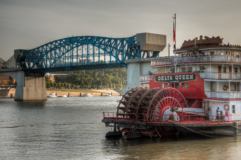 """<h3><strong>Today's Photo: Delta Queen</strong></h3> I spent July 3rd in Chattanooga with the family to enjoy Pops on the River. It was a concert in <a title=""""The Fountain in Coolidge Park"""" href=""""http://justshootingmemories.com/2012/04/05/the-fountain-in-coolidge-park/"""">CoolidgePark</a>with the Chattanooga Symphony Orchestra and fireworks at the end. Someone said there were 30,000 people there and I would believe it. We got there early enough to cross the pedestrian bridge and spend a little time on the South Shore and the Chattanooga Aquarium. Parked right at Coolidge Park is the Delta Queen paddle boat. I got this shot just a few minutes before the concert started.  Read more at the <a href=""""http://justshootingmemories.com"""">Daily Photography Blog</a> Just Shooting Memories!..."""