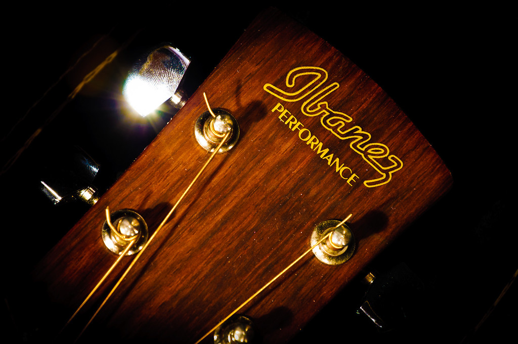 """<h3><strong>Today's Photo: Ibanez</strong></h3> When I was 18, I got a guitar for my birthday. I had great plans to be a musician, but that has not come to pass. I still get it out and pluck a few tunes. I got it out the other day because I decided to take a few shots of it for the Music assignment on Leo Laporte's Tech Guy show. I thought this would be a good shot to share here also.  Read more at the <a href=""""http://justshootingmemories.com"""">Daily Photography Blog</a> Just Shooting Memories!..."""
