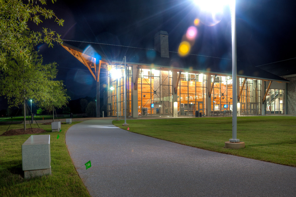 "<h3><strong>Today's Photo:  Georgia Highlands College</strong></h3> I was driving around Cartersville this past weekend when I ran across the new Georgia Highlands College building.  It was still under construction, but looked mostly done.  The TV's were on the wall and the furniture was still plastic wrapped.  I found a good angle along this walkway.  It was kinda eerie walking around with the no one else there.  Read more at the <a href=""http://justshootingmemories.com"">Daily Photography Blog</a> Just Shooting Memories!..."