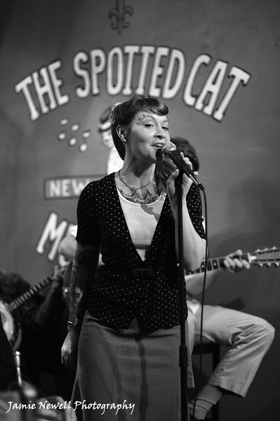 Meschiya Lake performs at the Spotted Cat in New Orleans, LA. 2010