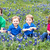 Cade, Micah, Beckett, Jaxon in Bluebonnets at George Bush Library