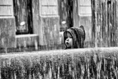 By the fountain, Ljubljana