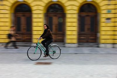 Cyclist, Ljubljana