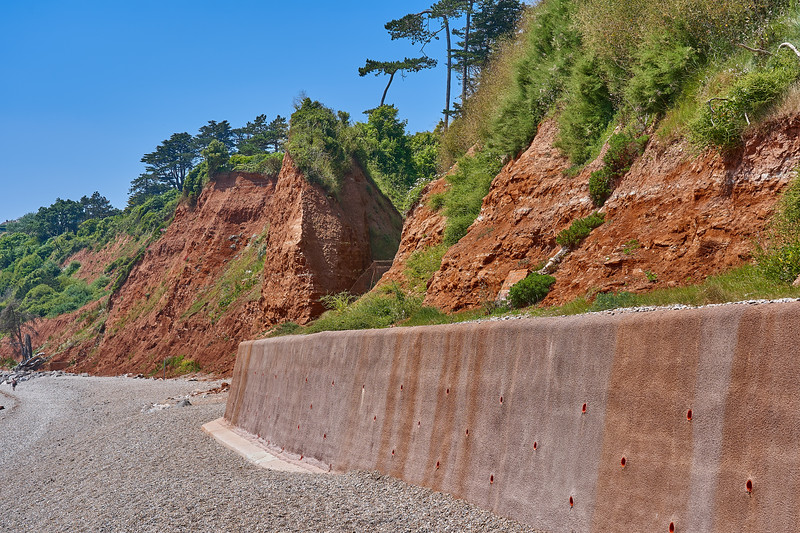 Red Permian rocks at Seaton