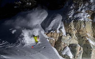 Pro skier Kyle Taylor  at Whitefish Mountain Resort.