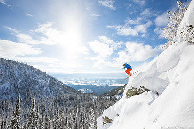 Zak Anderson at Whitefish Mountain Resort. (C) Craig Moore