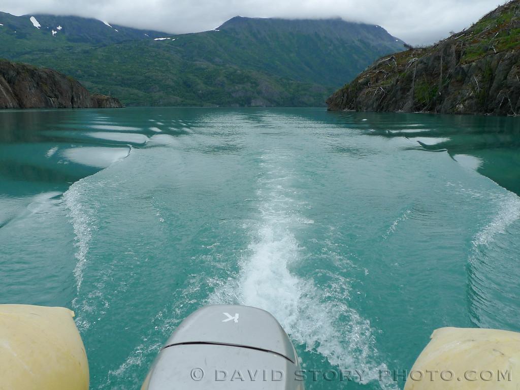 Motoring through the Irish Channel, Skilak Lake.