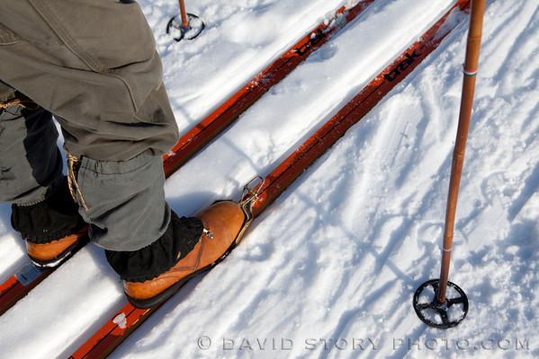 Stylin' skis.
