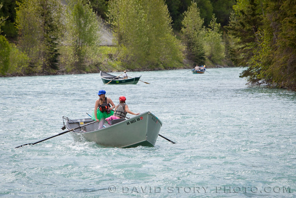 Competition is fierce in the Kenai River Driftboat Regatta even for last place.