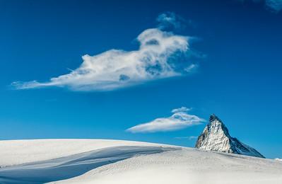 Snowy Matterhorn