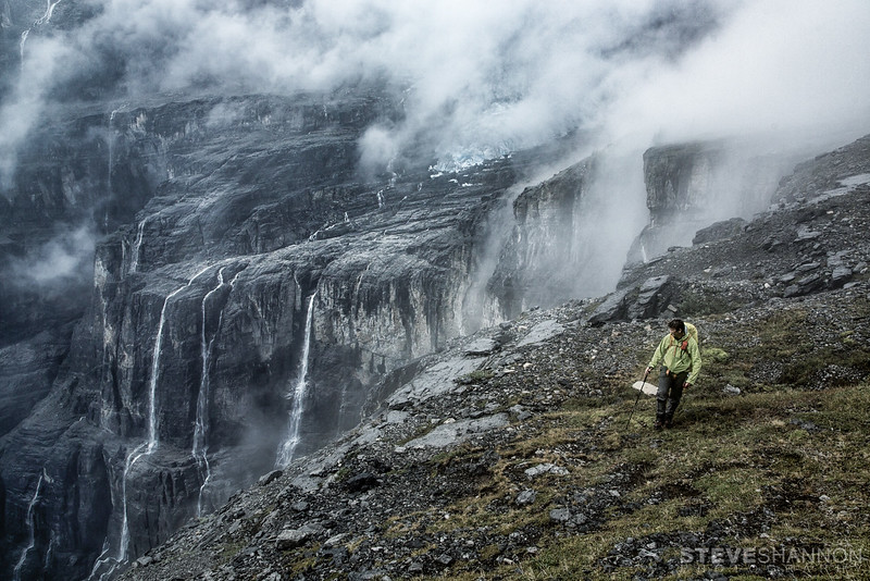 Model: David McEachern<br /> Location: Icefall Canyon, Rocky Mountains, BC