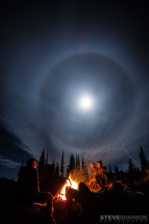 Campfire near Revelstoke, BC