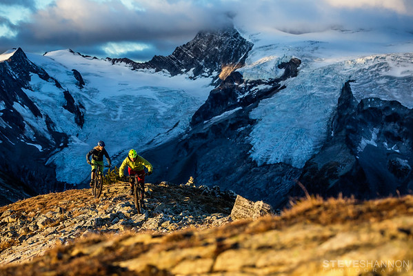 Riders: Lorraine Blancher & Ariel<br /> Location: Purcell Mountains, BC