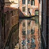Gondola Reflection, Venice