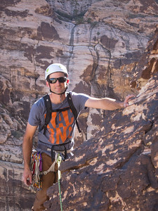 Climbing at Red Rocks, Nevada
