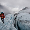 Crossing the Lyell Icefield.<br /> <br /> Icefall Traverse, 2014