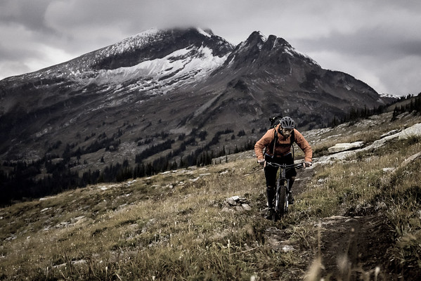 Riding at Sol Mountain Lodge, Monashee Mountains, BC.