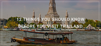 Every country differs from another by the language, culture, and people who live there. Considering all that, it isn't so strange that the rules and customs aren't always the same as we used them to be. Sometimes there are entirely reasonable but sometimes very unusual. In that honor, here are the twelve things you should know before you visit Thailand.<br />  <<< Read More >>>