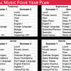 Vocal Music Sample Four Year Plan