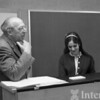 1966-67 Aaron Copland with Arts Academy student