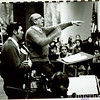 1970 Mel Larimer with Aaron Copland and students