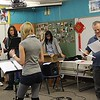 George Zarr (IAC FAC 07-08) works with the intermester Radio Drama class