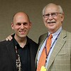 Jared Hauser (AS 85-86, IAC 88, IAA 88-90) with Dan Stolper IAA faculty