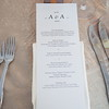 No elegant wedding is complete without a well-designed menu featuring locally grown food.  (Photo by David Hanson)
