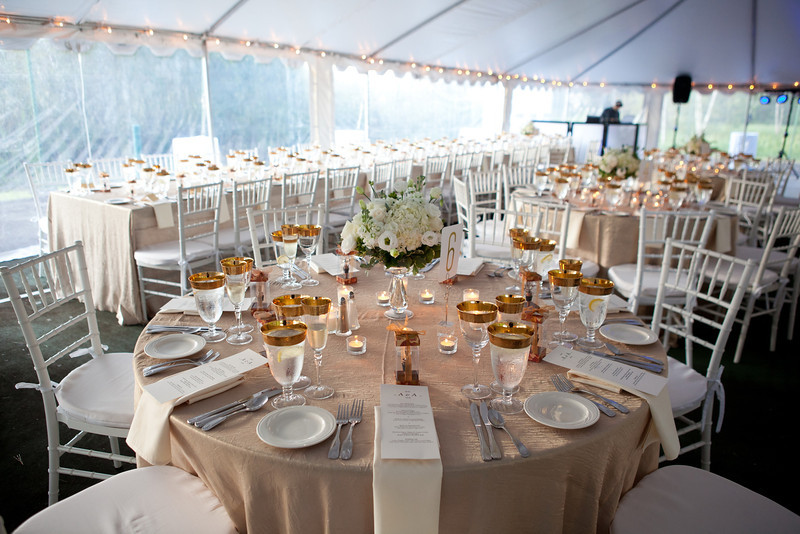 The feel of a simply elegant theme combines elements of a large, grand bash with an intimate, cozy celebration.  (Photo by David Hanson)