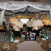 An Out of Africa themed party, complete with a safari style bar