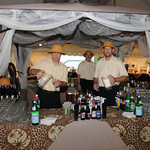 An Out of Africa themed party, complete with a safari style bar - The Casual Gourmet, Cape Cod Wedding Caterer