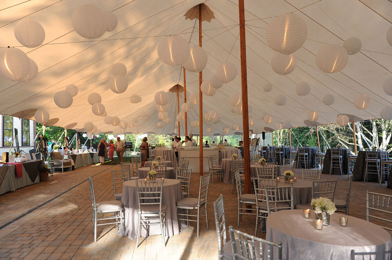 Inside a Sperry Tent at a Cape Cod event catered by The Casual Gourmet
