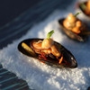 Local Mussel presented as a Passed Hors d'oeuvre for a Cape Cod Wedding