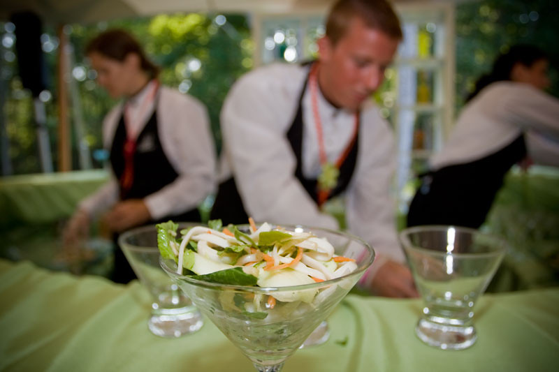 Salad bar at a Cape Cod event, catered by The Casual Gourmet.