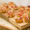A Cape Cod wedding appetizer, Tuna in wontons