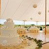 Seashell wedding cake at a waterfront Cape Cod reception site. Photo by Bello Photography