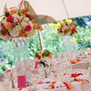 Colorful flower arrangement at a Cape Cod wedding. Photo by Amy Riley