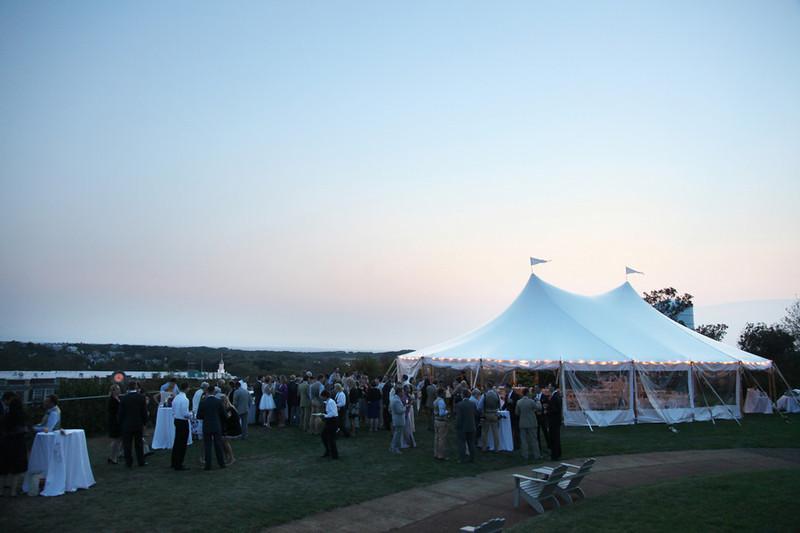 Wedding reception at Pilgrim Monument on Cape Cod