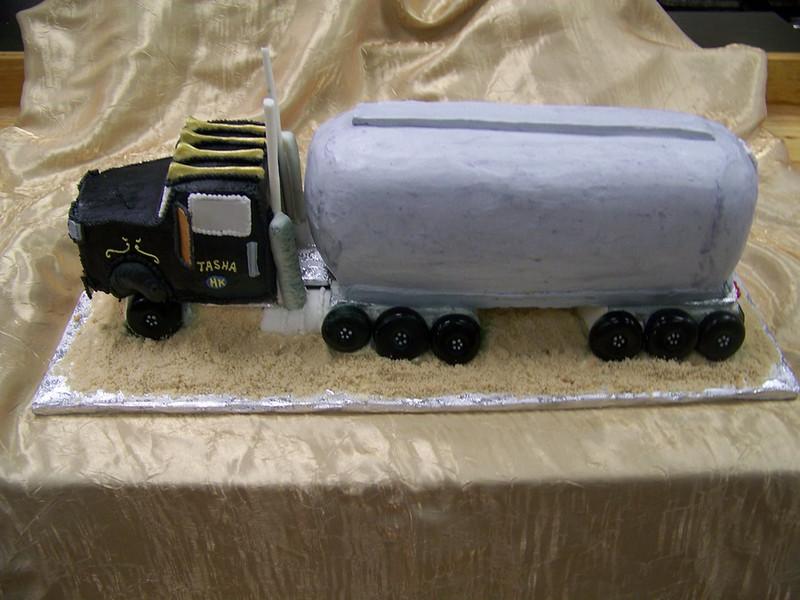 Black truck cake