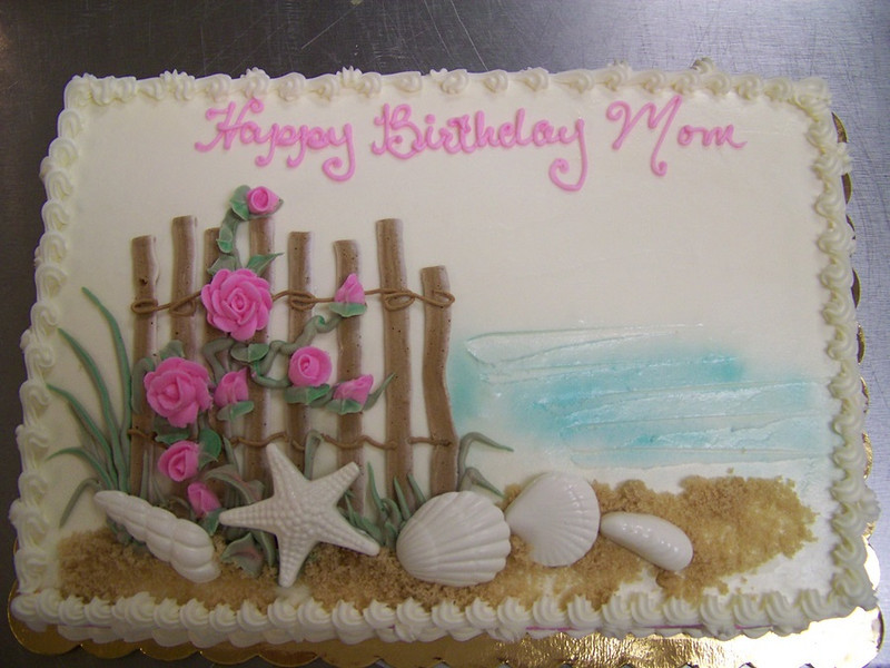 Seaside birthday cake