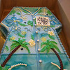 Hawaiian shirt 50th birthday cake