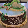 Frog 5 year old birthday cake