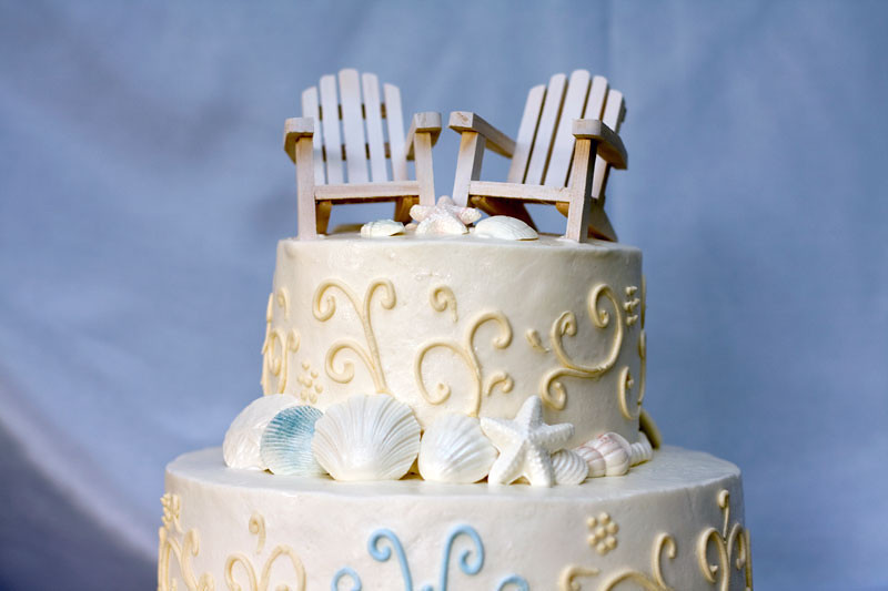 The perfect cake for you beach front Cape Cod Wedding