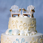 The perfect cake for you beach front Cape Cod Wedding - The Casual Gourmet, Cape Cod Wedding Caterer