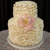 Ruffled Cake with Sugar Peony