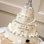 Sand Castle Cake (Photo by J.La Images) - The Casual Gourmet, Cape Cod Wedding Caterer