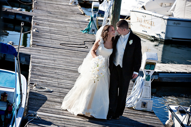 A bride a groom after their Cape Cod wedding at Nauticus Marnia. Photo by Bello Photography