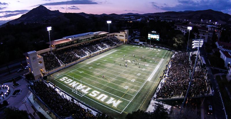 The Cal Poly Men's soccer team take on the UCSB Gauchos in Alex G. Spanos Stadium.  Nov. 2, 2014. Nov. 2, 2014. Ian Billings/Mustang News