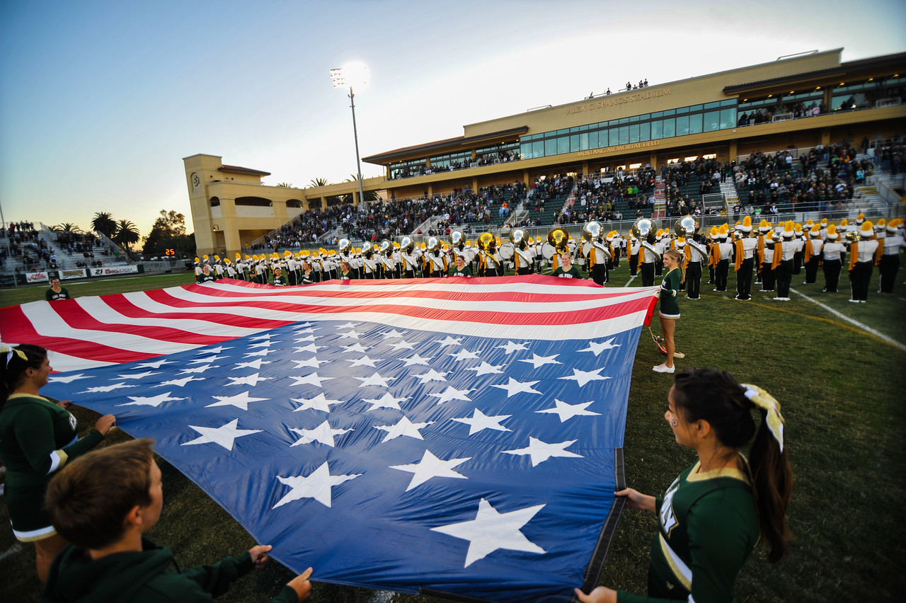 Cal Poly Football takes on Northern Arizona.  October 26, 2013. Photo by Ian Billings.