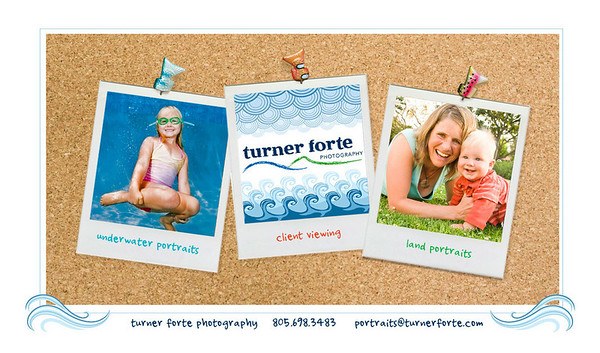 Turner Forte - Underwater and Land Portraits Homepage splash screen with links to SlideShowPro Flash galleries and SmugMug style client viewing galleries.  Visit the site: www.fortefoto.com